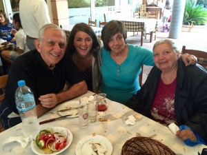 Sarah Smith, second from left, with her great uncle, great aunt and grandmother.
